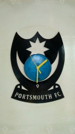 Portsmouth FC 2 Vinyl Record Clock