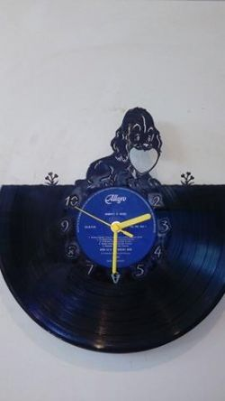 Puppy Love Vinyl Record Clock