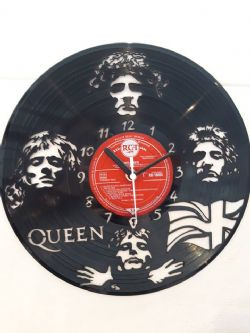Queen Faces Vinyl Record Clock