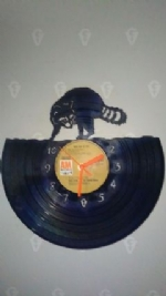 Raccoon Vinyl Record Clock