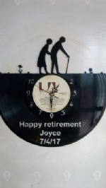 Custom Retirement Vinyl Record Clock