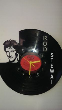 Rod Stewart Vinyl Record Clock