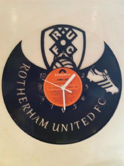 Rotherham United Fc Football Themed Vinyl Record Clock