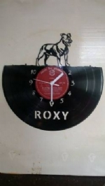 Custom Dog With Name Vinyl Record Clock