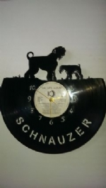 Giant And Standard Schnauzer Dog Vinyl Record Clock