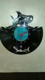 Shark Vinyl Record Clock