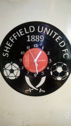 Sheffield United Fc Vinyl Record Clock