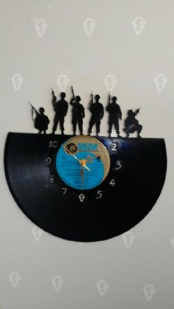 soldiers Themed Vinyl Record Clock