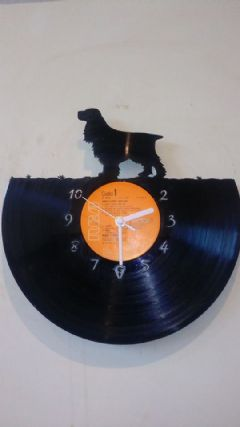 Cocker Spaniel Dog Vinyl Record Clock