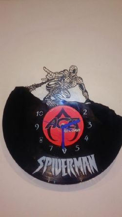 Marvel Spider-Man Superhero Vinyl Record Clock