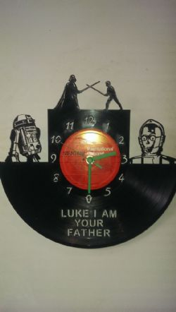 Star Wars Father Themed Vinyl Record Clock