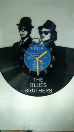 The Blue Brothers Vinyl Record Clock