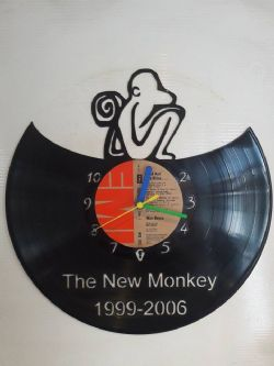 New Monkey Vinyl Record Clock