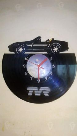 TVR Car Vinyl Record Clock