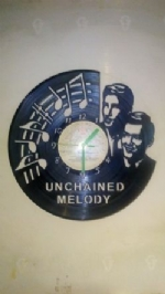 Unchained Melody Vinyl Record Clock