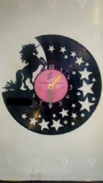 Unicorn Vinyl Record Clock