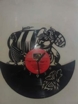 Viking Ship Themed Vinyl Record Clock