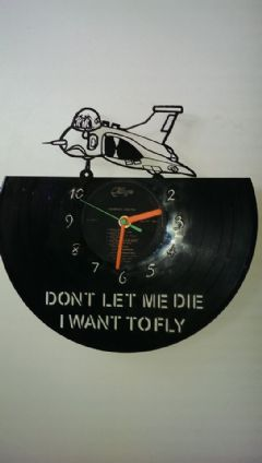 Vulcan Sad Cartoon Vinyl Record Clock