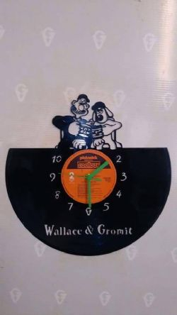 Wallace and Gromit Vinyl Record Clock