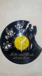 Wedding with doves Personalised Vinyl Record Clock