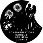 Wedding Bells And Sunflowers Vinyl Record Clock