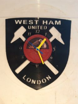 Westham FC Badge Themed Vinyl Record Clock