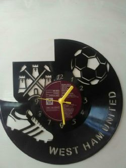 West Ham United Fc Football Themed Vinyl Record Clock