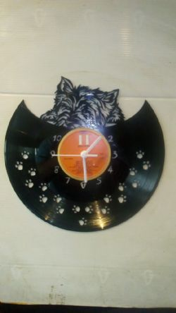 West Highland Terrier Cute Themed Vinyl Record Clock