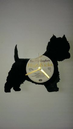 West Highland Terrier Neat Dog Vinyl Record Clock