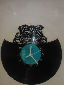 West Highland Terrier Cute Pose Themed Vinyl Record Clock