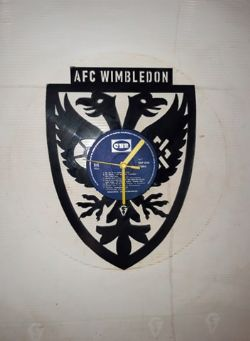Wimbledon AFC Badge Themed Vinyl Record Clock