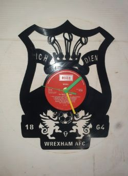 Wrexham FC Themed Vinyl Record Clock
